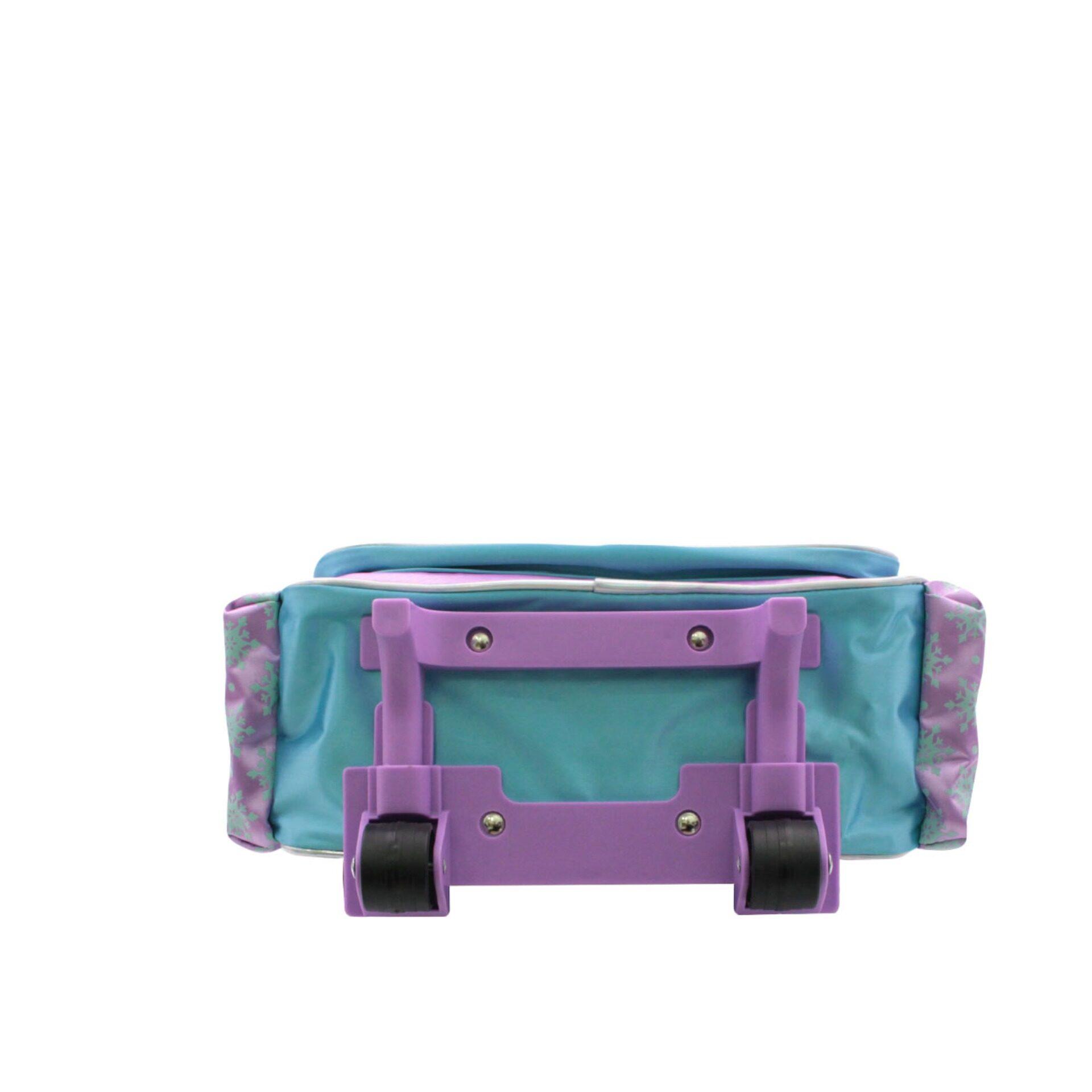 Disney Frozen 2 Princess Elsa Anna & Olaf Trolley Bag with 2 Wheels (Light Purple & Blue) (Age 9 & Above)