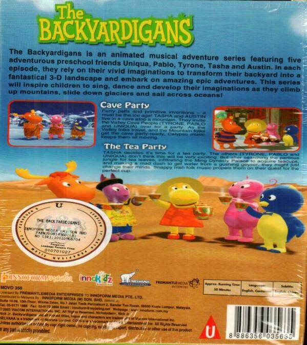The Backyardigans Cave Party The Tea Party DVD