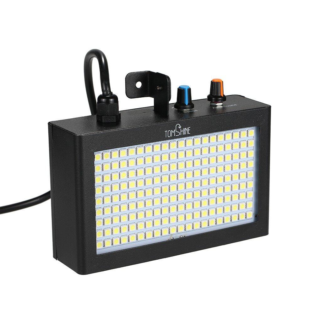Lighting - 180 LEDs Strobe Flash Light Lamp PORTABLE Auto Running Sound Contr - WHITE-EU / WHITE-US