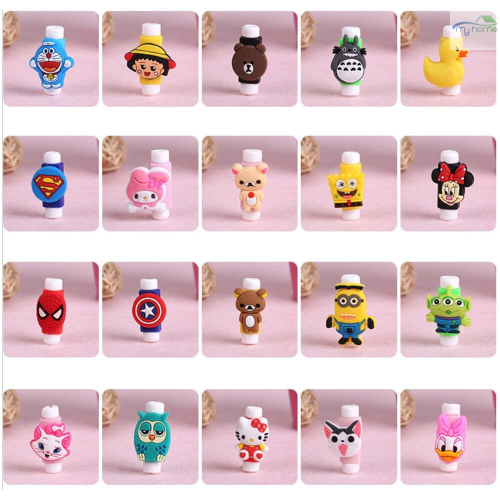 Mobile Cable & Chargers - Cute Animal Bite Cable Data Protector Winder Organizer for Smartphone Data Line Phone - 5