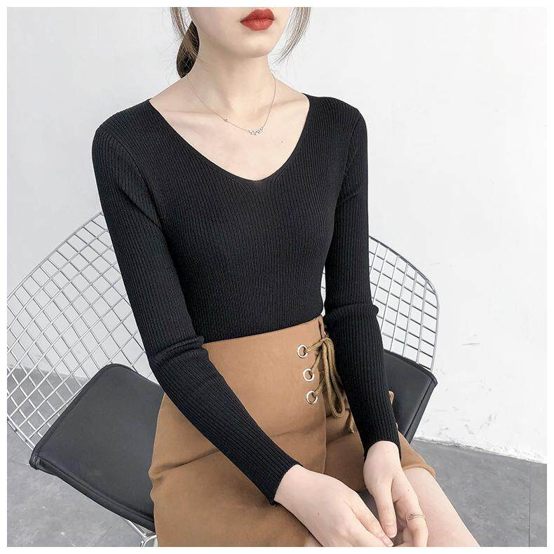 (Pre Order14 Days JYS Fashion Korean Style Women Knit TopCollection526-2543col525a-2543--Black -S