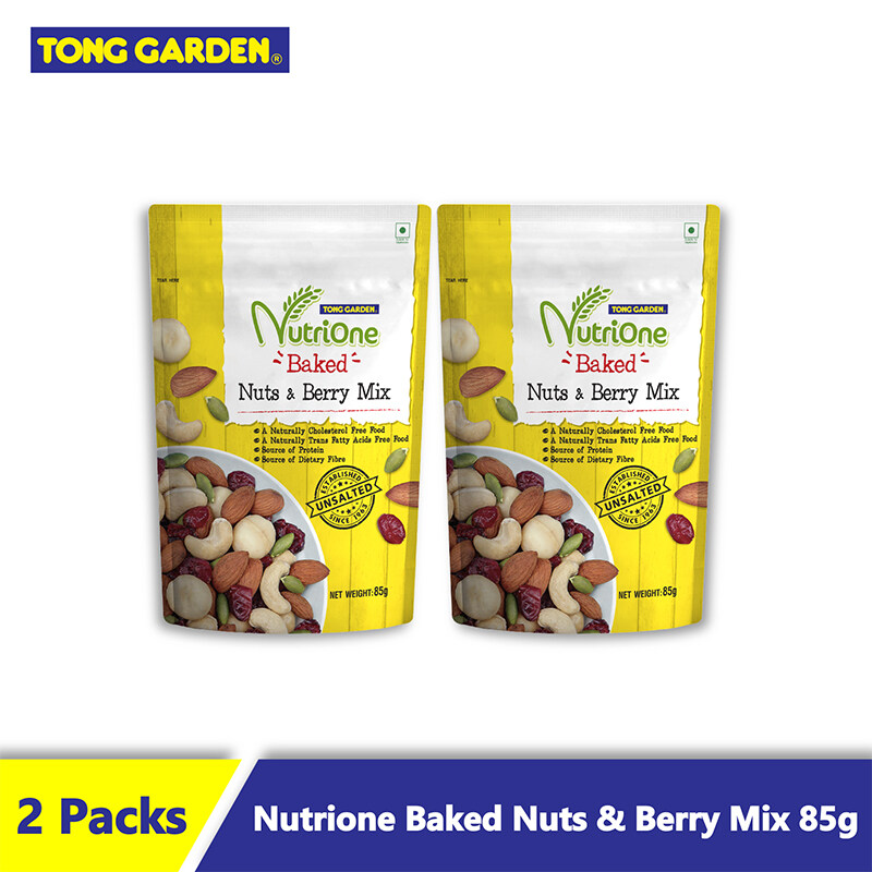 NutriOne Baked Nuts and Berry Mix (Unsalted) 85g [Bundle of 2]