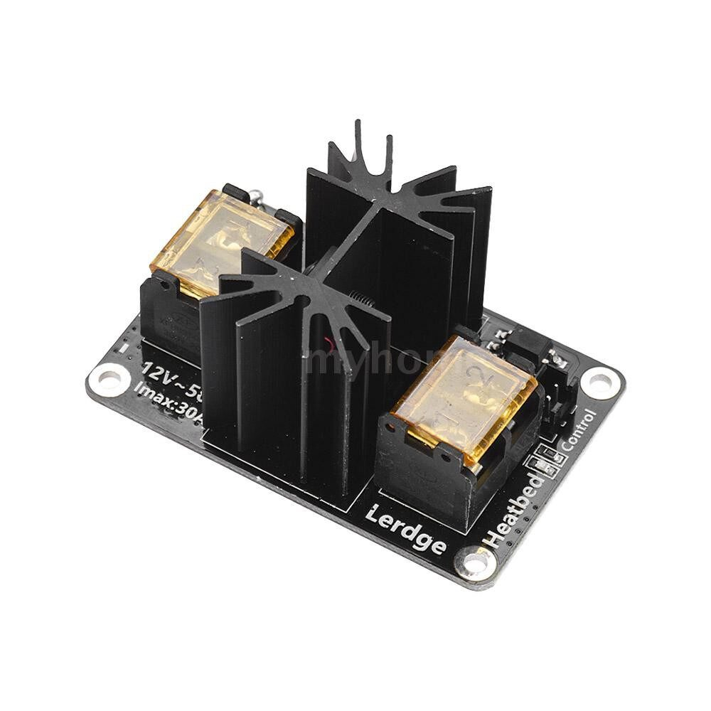 Printers & Projectors - Heated Bed MOS Tube Module Power Expansion Board High Current Load Max. 30A 12V-50V for 3D - BLACK