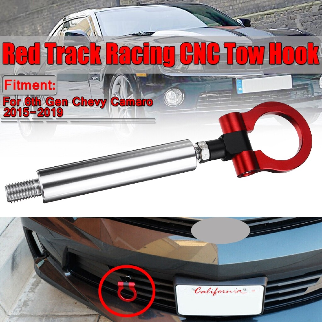 Automotive Tools & Equipment - Track Racing Style CNC Aluminum Tow Hook For 6th Gen Chevrolet Camaro 2015- - Car Replacement Parts
