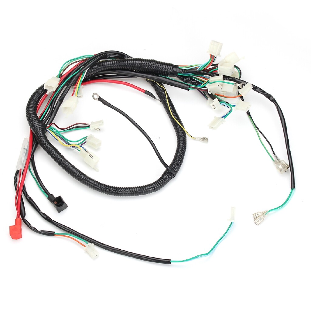 Power Tools - Wire Loom Coil Harness Assembly Fits For GY6 125CC 150CC ATV Quad Bike Go Kart - Home Improvement