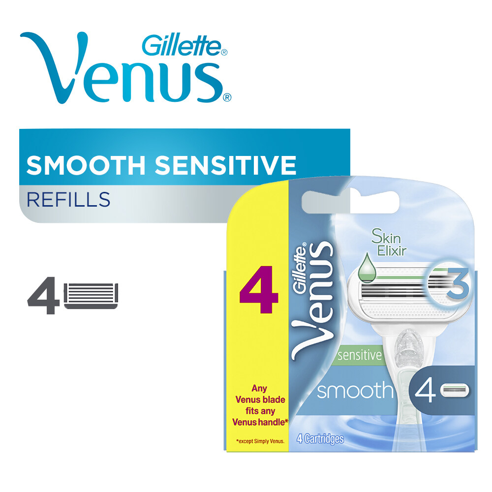 Gillette Venus Smooth Sensitive Razor Cartridges 4s