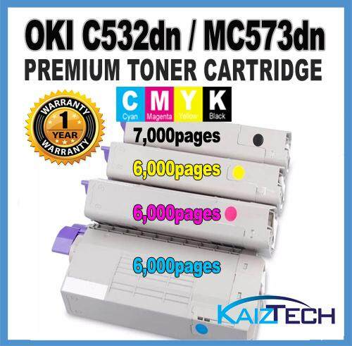 OKI / Okidata CYMK (4 Units) C532 C542 MC573 MC563 For Okidata Color LaserJet C532dn C 532dn / C542dn C 542dn / MC573dn MC 573dn / MC563dn MC 563dn ( BLACK + CYAN + MAGENTA + YELLOW )
