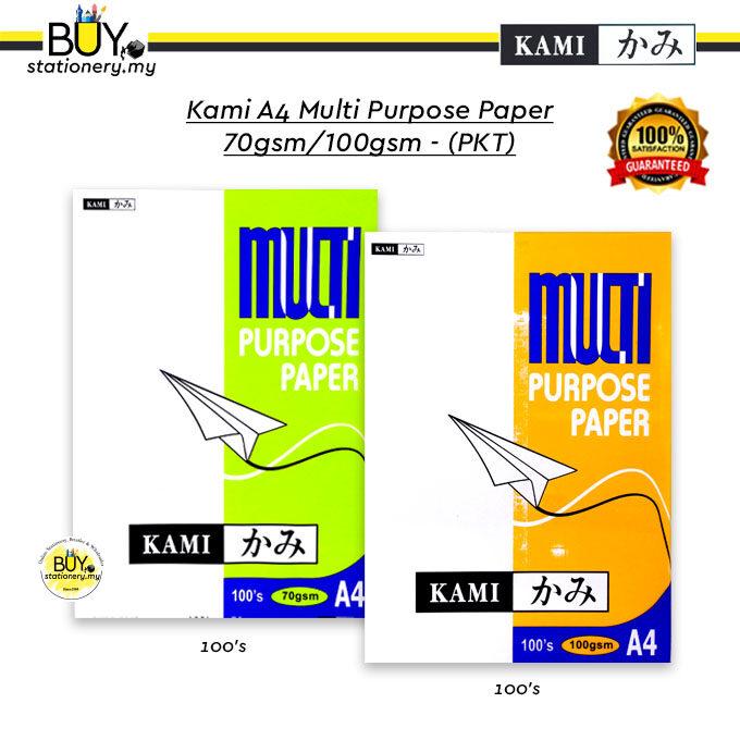 Kami A4 Multi Purpose Paper 70gsm/100gsm - (PKT)