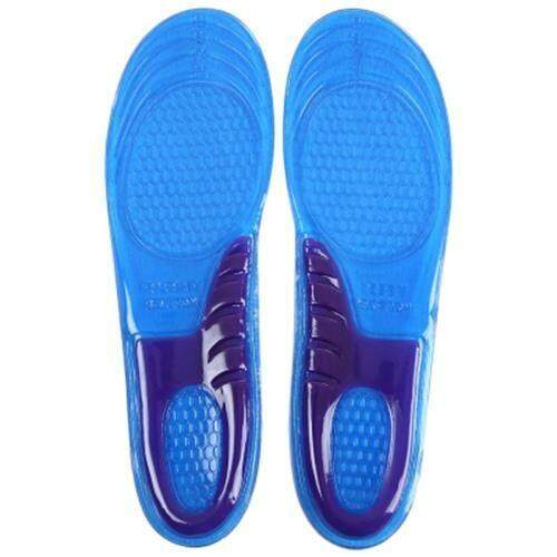 PAIRED SILICA GEL INSOLE SHOCK ABSORPTION CUT-TO-FIT STRETCH BREATHABLE CUSHION FOR UNISEX (BLUE+GRAY)