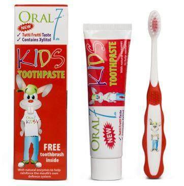 Oral7 Kids Toothpaste 65g (Free Toothbrush)
