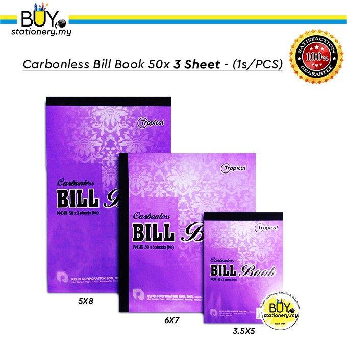 Tropical Carbonless Bill Book 50x 3 Sheets - (1s/PCS)