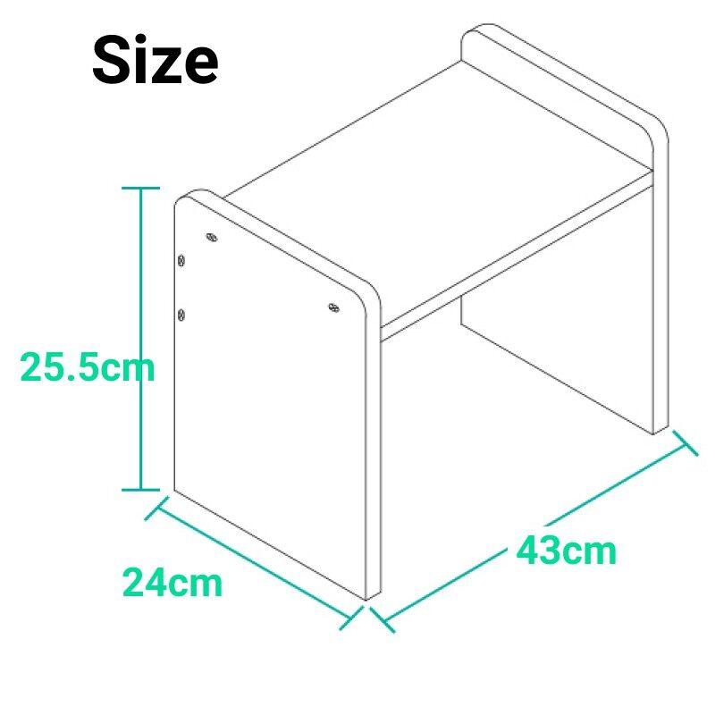 [Ready stock] Printer shelf desktop multi-layer high quality wood file storage rack solid wood