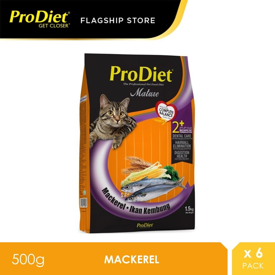 ProDiet 500g Mackerel Dry Cat Food Mackerel X 6 Packs [makanan kucing]
