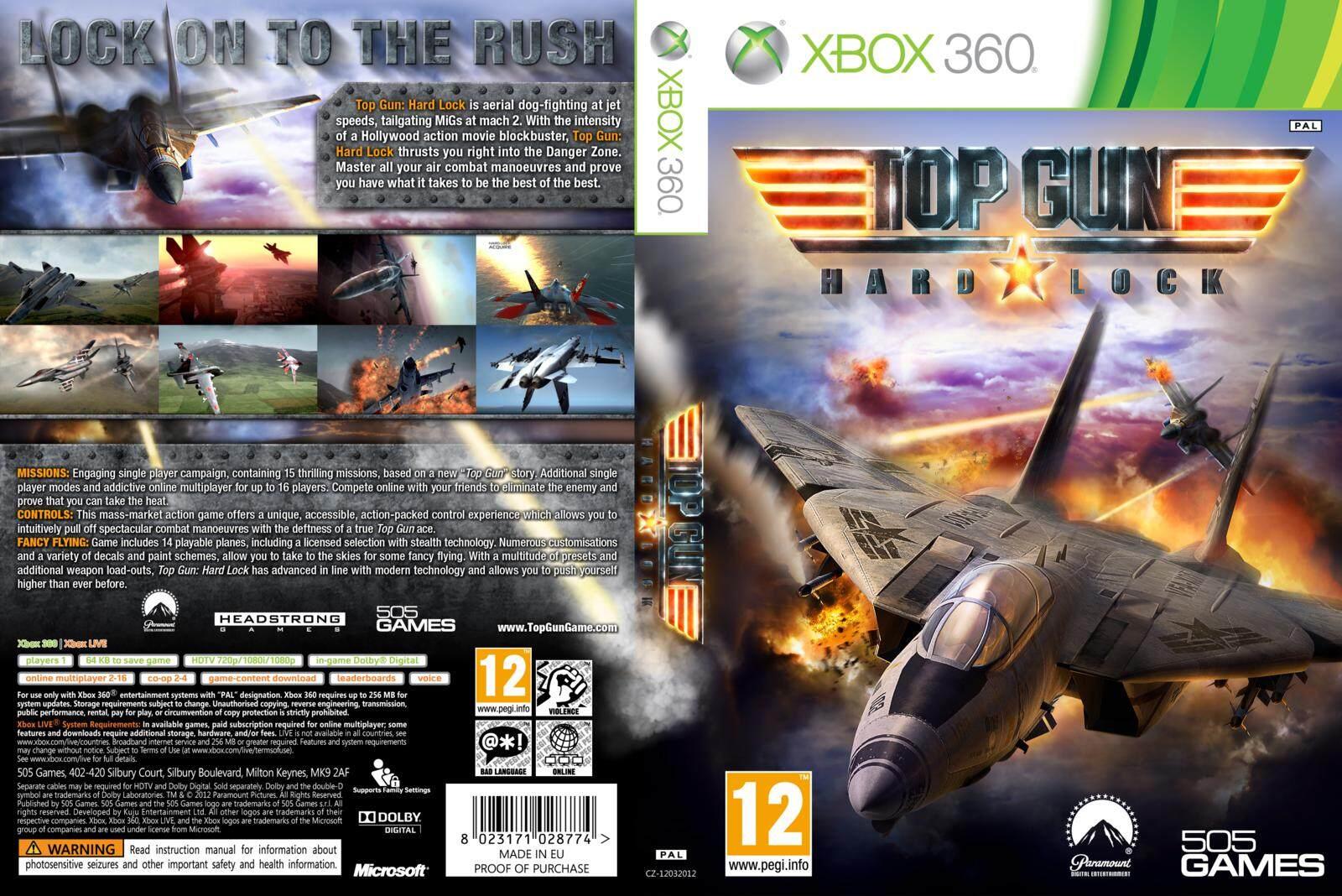 XBOX 360 Top Gun Hard Lock