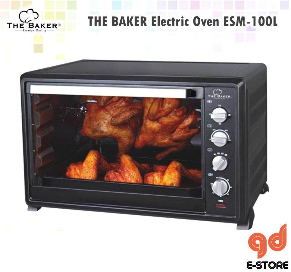 THE BAKER Large Capacity Electric Oven ESM100L – 100L Oven Besar (comes with 2 Baking Tray)