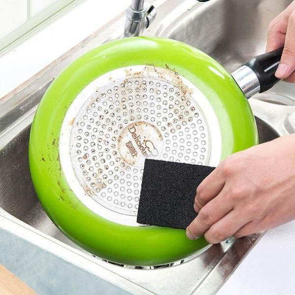 (Ready Stock in Selangor)  Nano Magic Cleaning Pot Pan Sponge