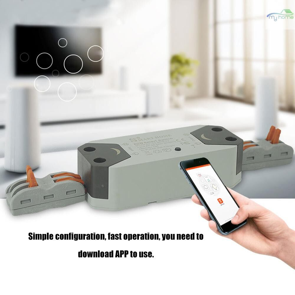DIY Tools - WIFI Switch WIRELESS Home Automation Module Universal Timer Remote Control ABS 10A Wifi Intelligent - #