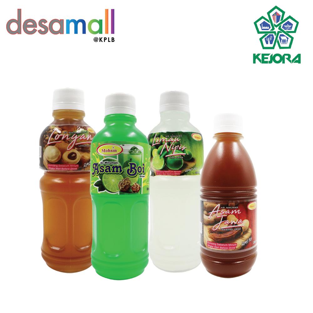 Combo 4 MOHSIN Air Minuman Campuran Perisa (Asam Boi, Asam Jawa, Limau Nipis & Longan)