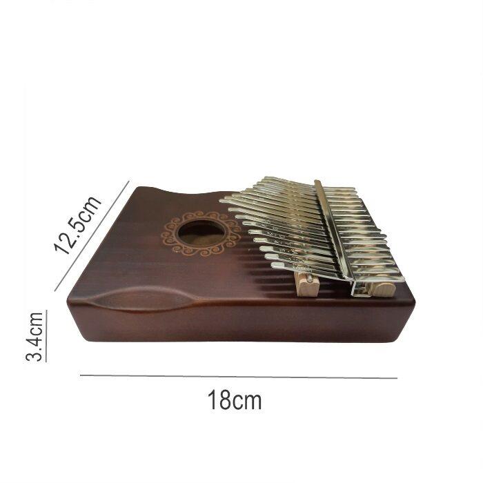 Piano Wooden 17 Keys Acoustic Finger Thumb Piano Kalimba Music Instrument
