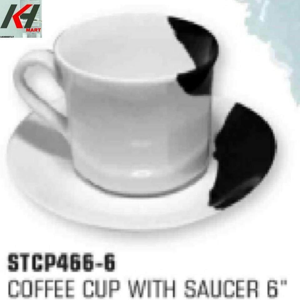 MELAMINE / MILAMINE TWO TONE COFFEE CUP WITH SAUCER 6   READY STOCK