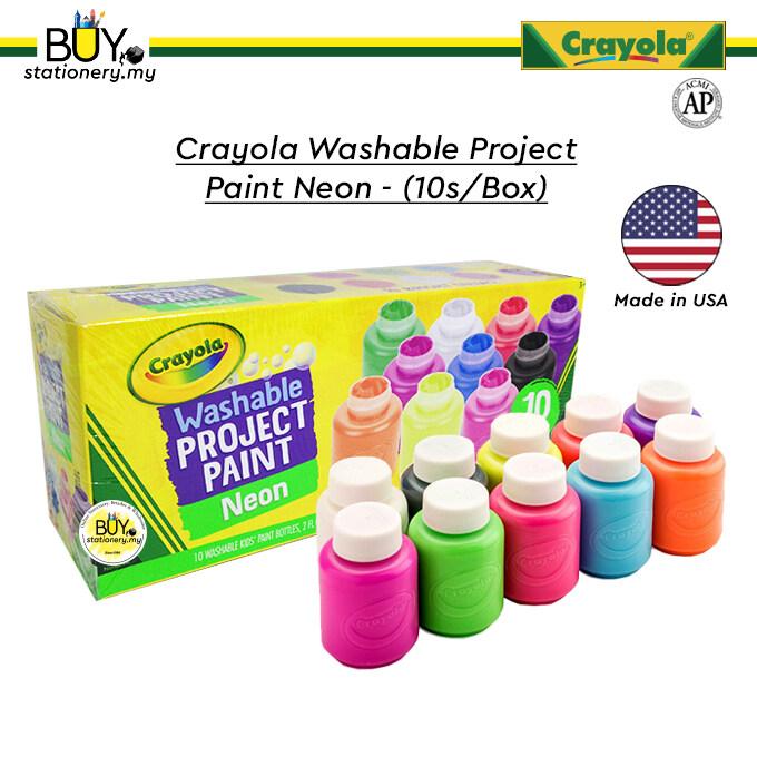Crayola Washable Kids Project Paint Neon - (10s/Box)