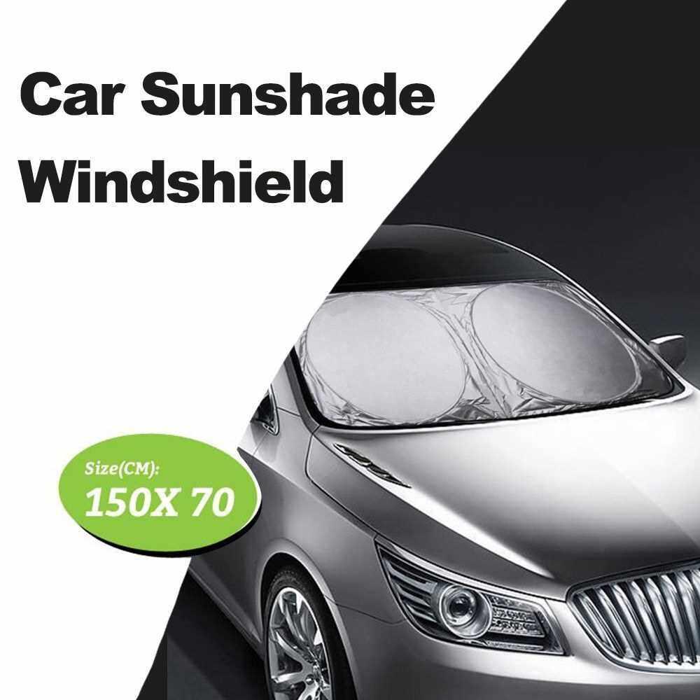 150X70CM Car Windshield Sun Shade Sunshade Visor Front Window SUV Van Auto Vehicle Shield Reflector Blocking Screen Cover for Trucks Cars (Standard)