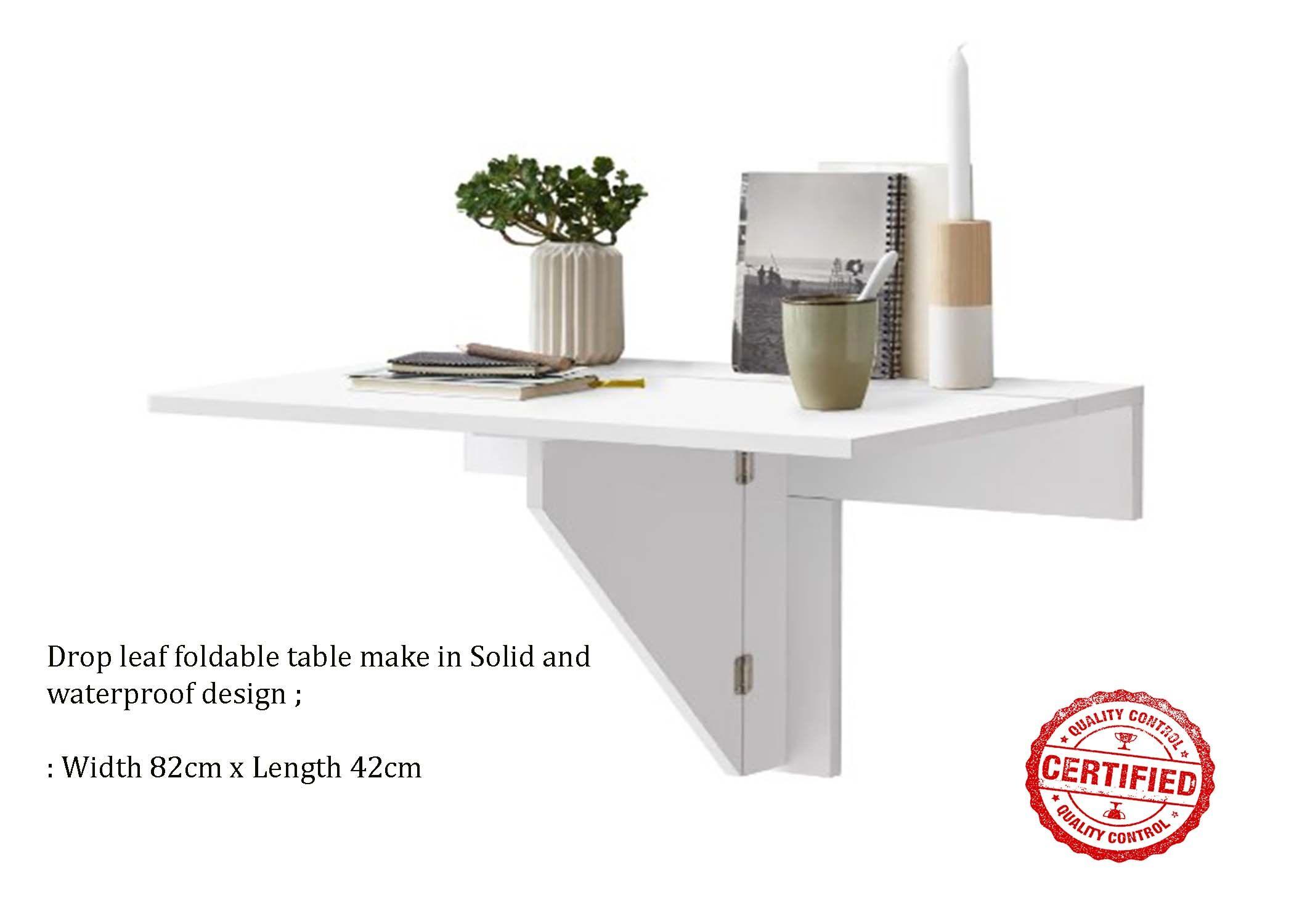 Drop leaf foldable table adjustable
