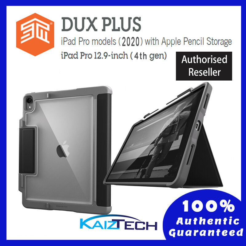 Original STM Dux Plus Duo - iPad Pro 12.9 4th Gen 2020 with Apple Pencil Storage, stm-222-287L-01