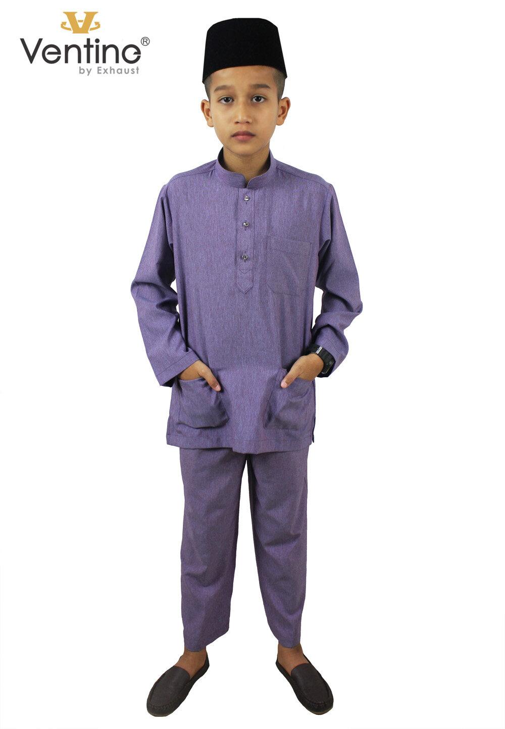 Ventine Baju Melayu Modern-SLIM FIT V2200-BMM(S)B#5-14-40