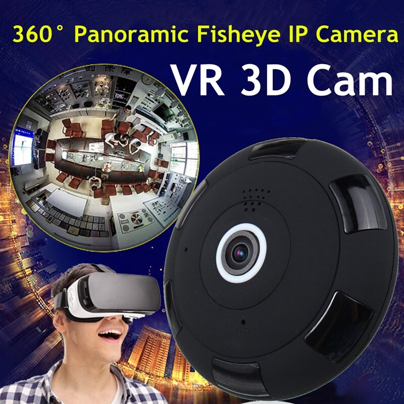 CCTV Security Cameras - 360 Panoramic Fisheye IP Camera WIRELESS WiFi HD Indoor/Outdoor Home Security - Systems