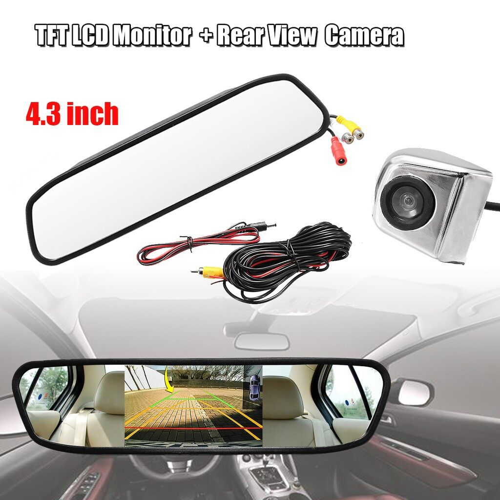 Car Lights - 4.3\'\' Car TFT LCD Monitor Mirror + HD CCD Reverse Rear View Camera Backup Kit - Replacement Parts