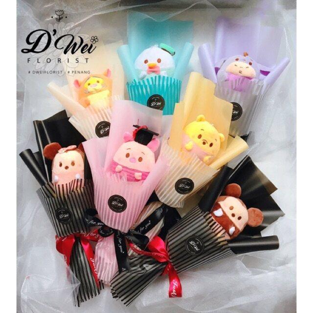 1 pc Ufufy   Tsum Tsum Bouquet mickey minnie pooh piglet donald stitch chip eeyore tigger Convo Cap Graduation