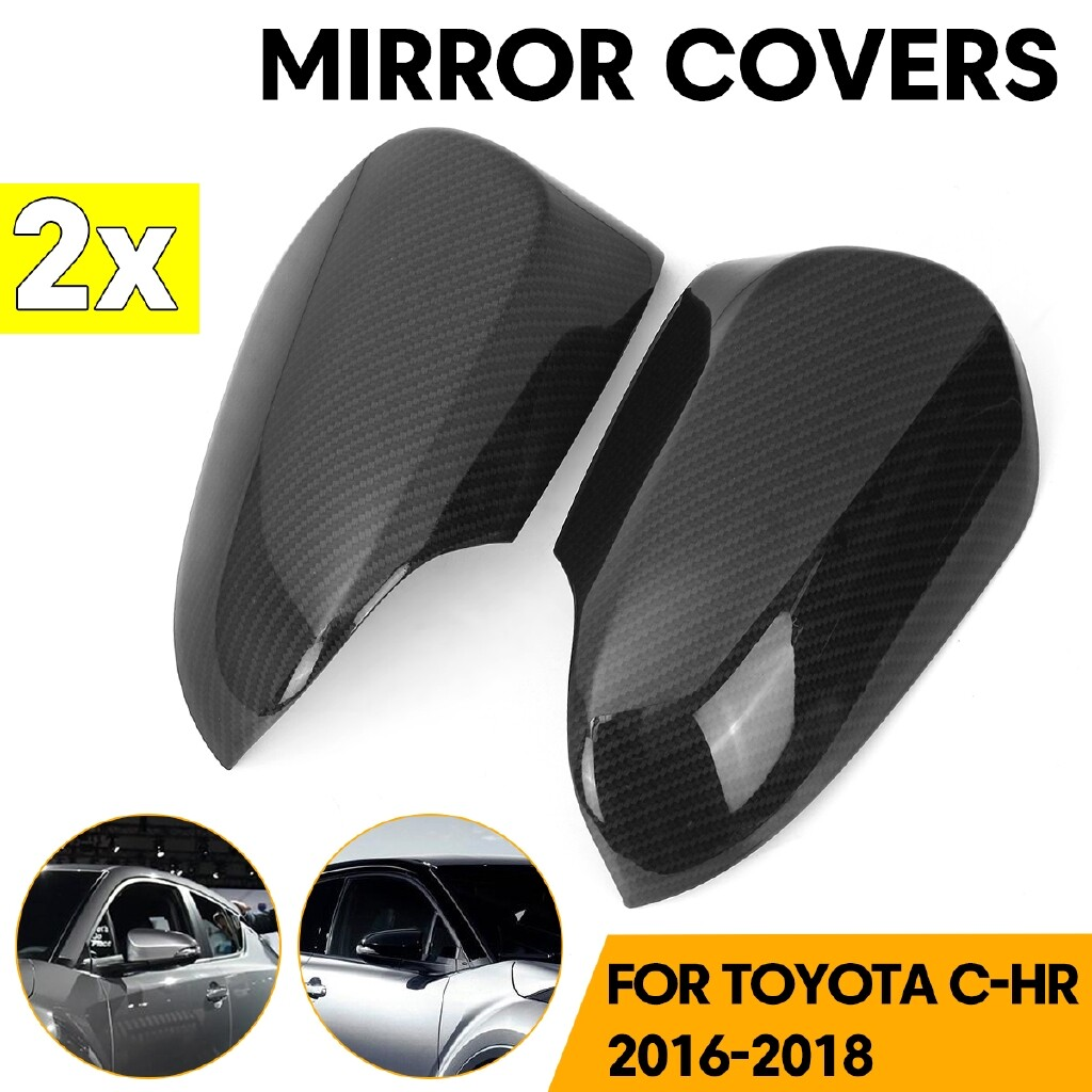 Car Lights - Carbon Fiber Rear View Side Wing Mirror Covers For Toyota C-HR - Replacement Parts