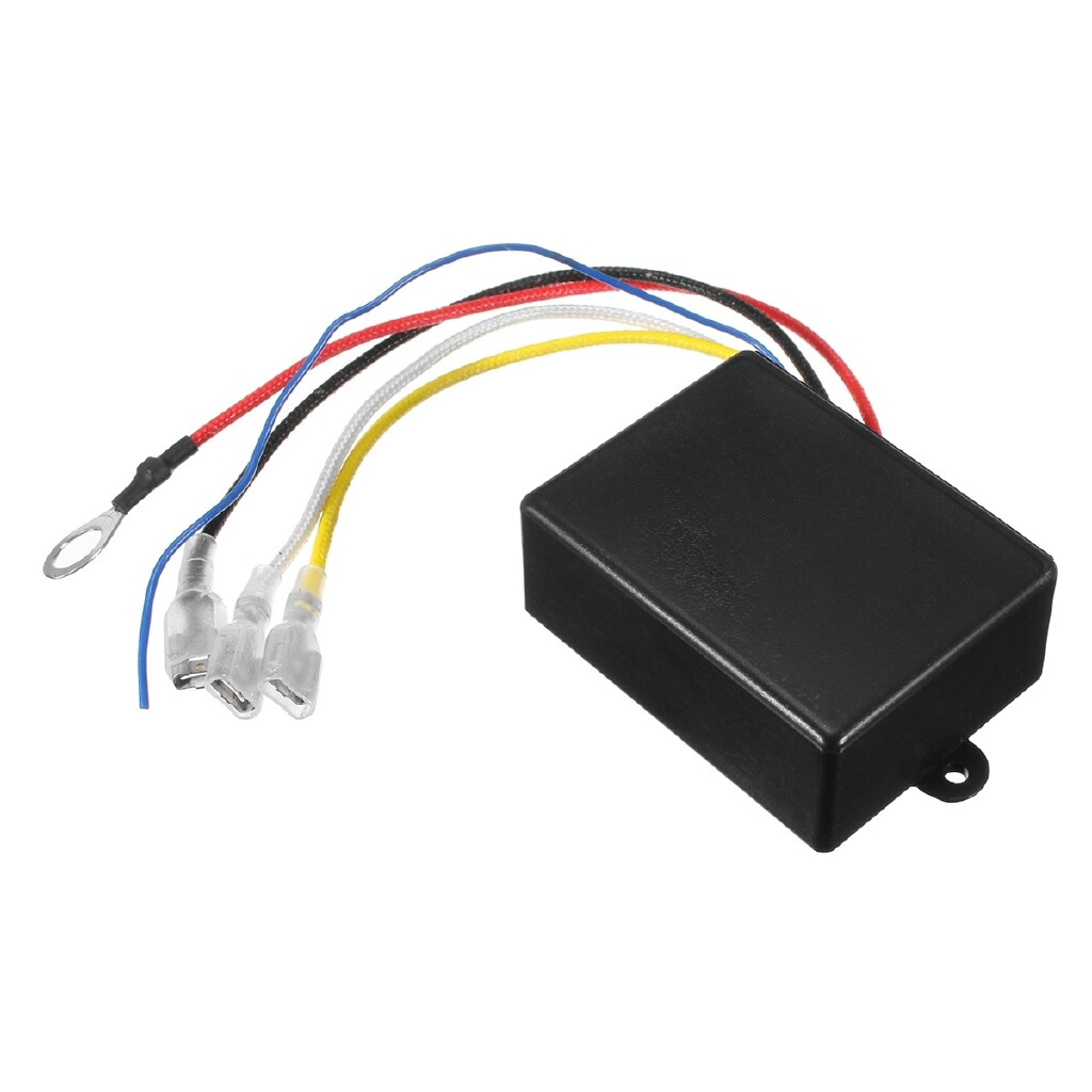 Engine Parts - 12V 500A HD Contactor Winch Control Solenoid Relay Twin WIRELESS Remote Recovery - Car Replacement
