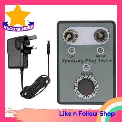 Car Spark Plug Tester with Adjustable Double Hole Detector Ignition Plug Analyzer (Uk)