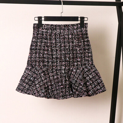 (Pre Order 14 Days  JYS Fashion Korean Style Women Short Skirt  Collection 533-6930col533-6930--White -S