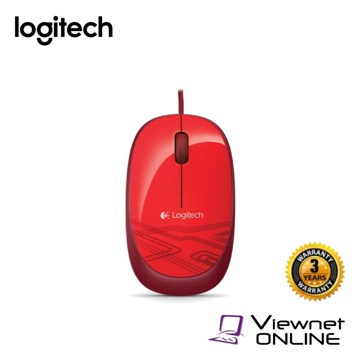 Logitech M105 Corded Mouse - Red