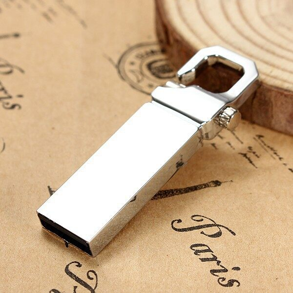 Cool Gadgets - 32GB 32G USB 2.0 Metal Keychain Flash Drive Stick Thumb Memory Storage - Mobile & Accessories