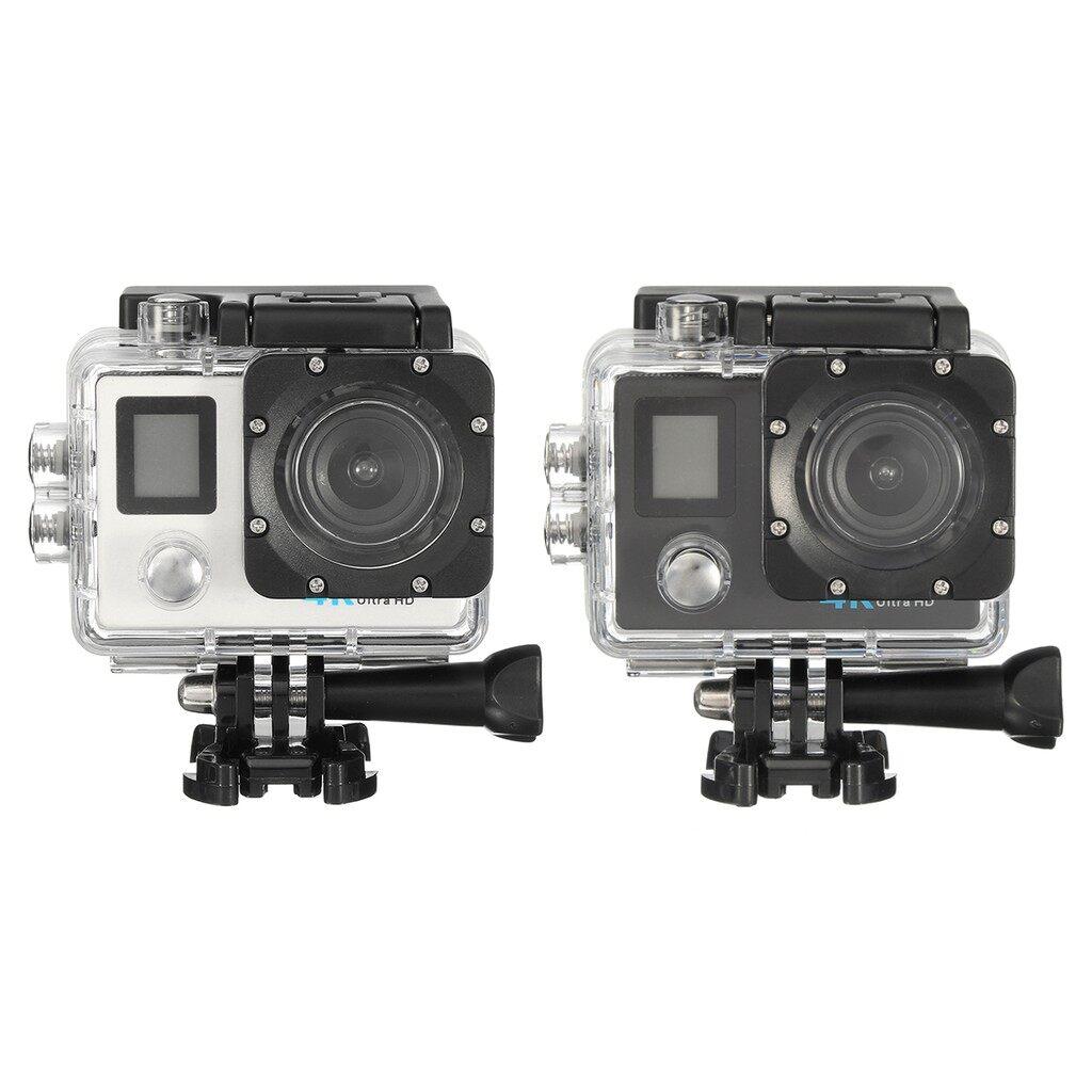 Sports & Action Cameras - 4K ULTRA HD Waterproof Action Sports Camera Helmet 16MP WiFi SJ Video Camcorder - WHITE / BLACK