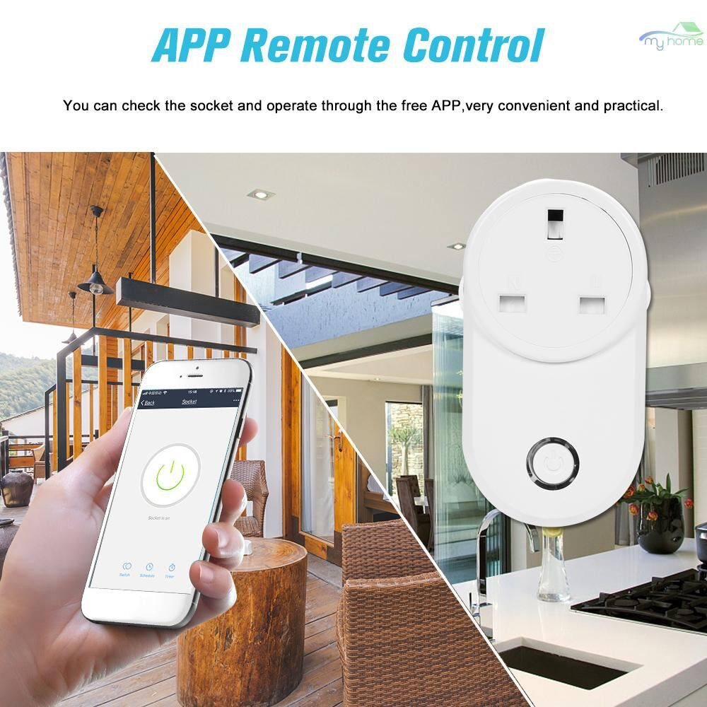 Plugs & Adapters - Home Socket WIFI Smart Socket UK Plug WIRELESS Outlet Support Timing Function Phone APP Remote - Home Improvement