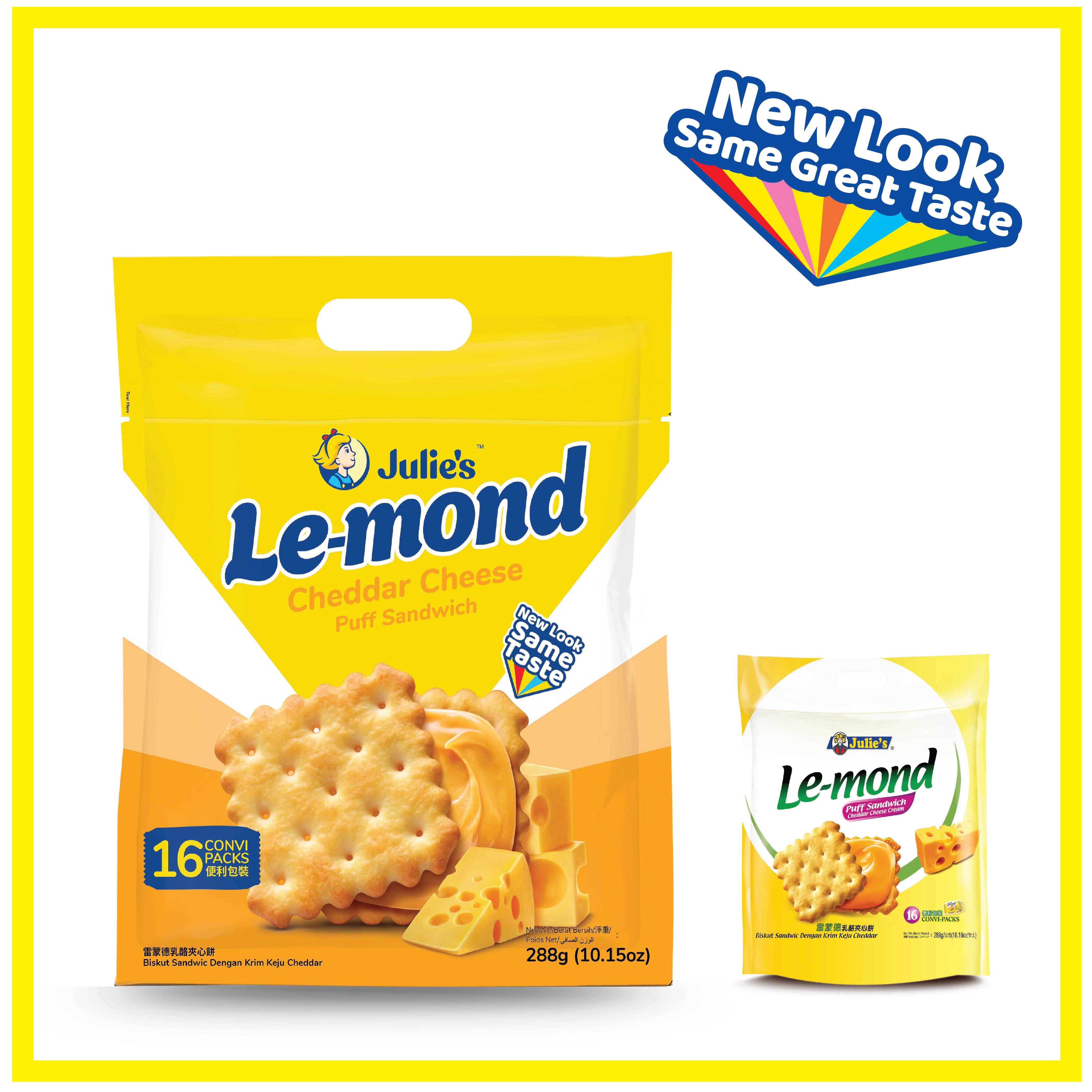 Julies Le-mond Cheddar Cheese 288g x 4 pack