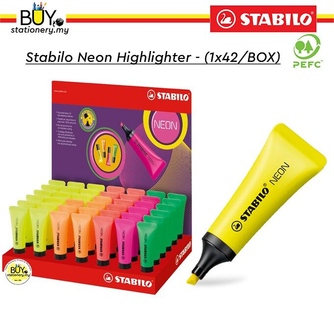 Stabilo Neon Highlighter - (1X42/BOX)