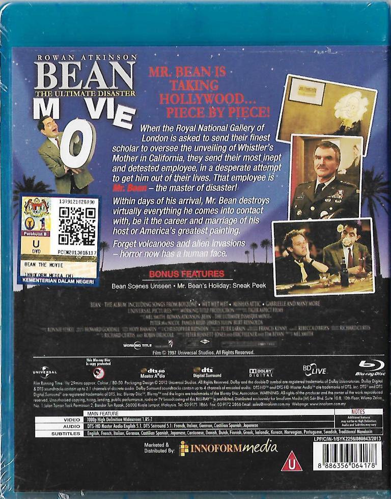 English Movie Bean : The Ultimate Disaster Movie Blu-ray 1997 Film Roman Atkinson
