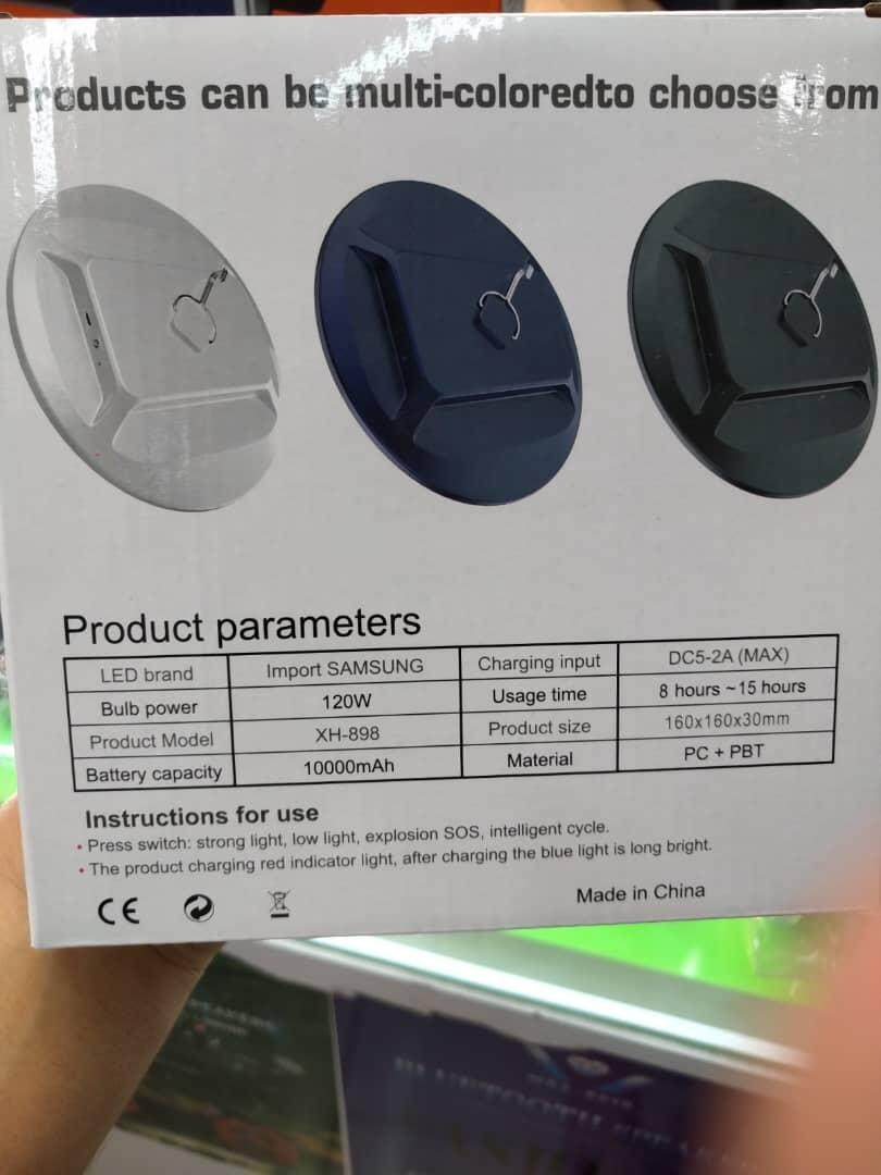 Ultra-thin Charging UFO Lamp 200w Super Light 5 Lithium Batteries (READY STOCK)
