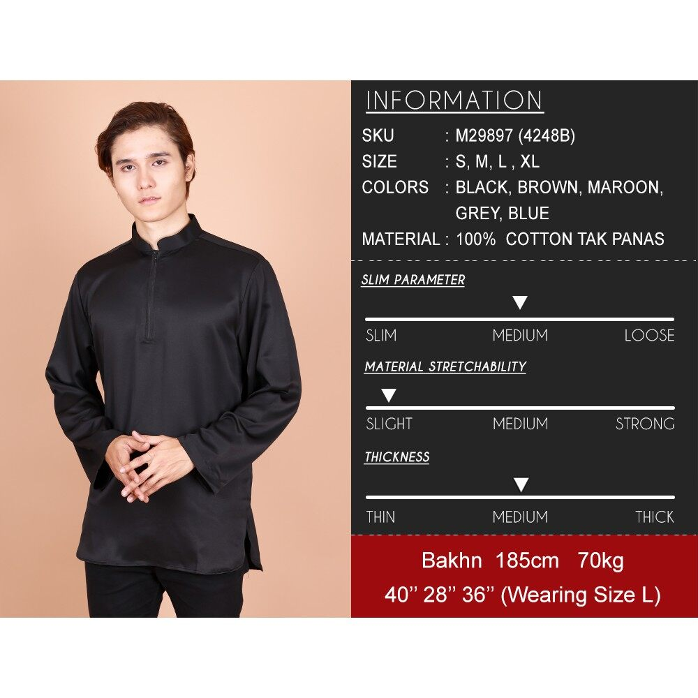2021 Raya Collection Kashif Long Sleeve Zipper Modern Kurta Muslimin Fashion BEST SELLER