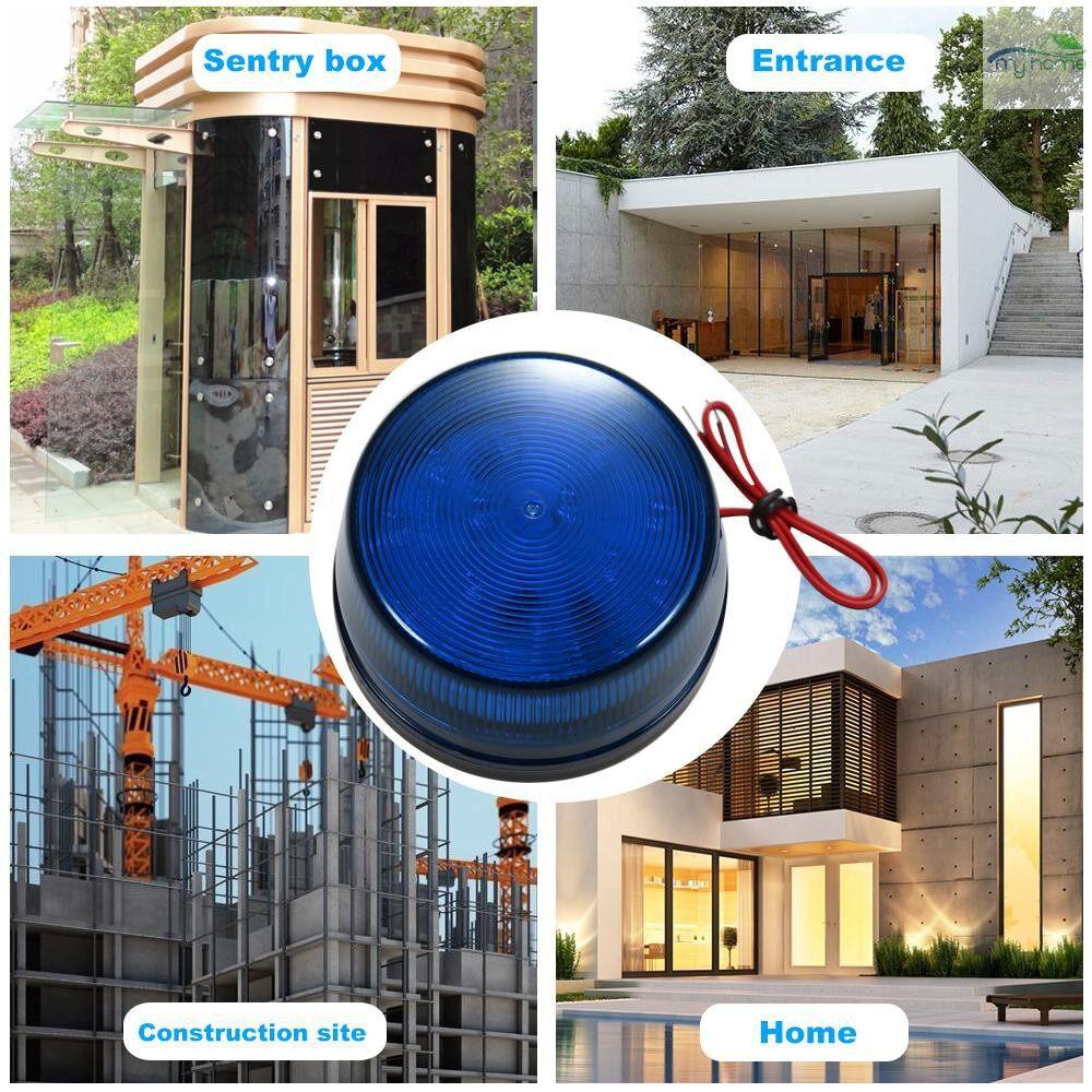 Sensors & Alarms - Wired Alarm Strobe Signal Safety Warning LED Light Flashing Waterproof 12V 120Safely Security - ORANGE / BLUE / RED