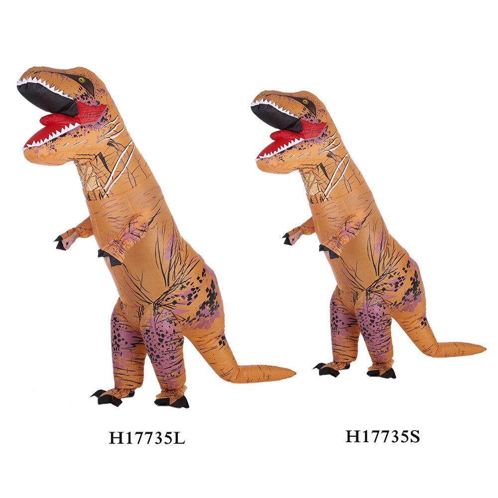 Home Decor - Funny Kids Inflatable Dinosaur Trex Costume Suit Air Fan Operated Blow Up - CHILD YELLOW / ADULT YELLOW / CHILD RED / ADULT RED / ADULT BLUE / CHILD BLUE / CHILD GREEN / ADULT GREEN / ADULT GREY