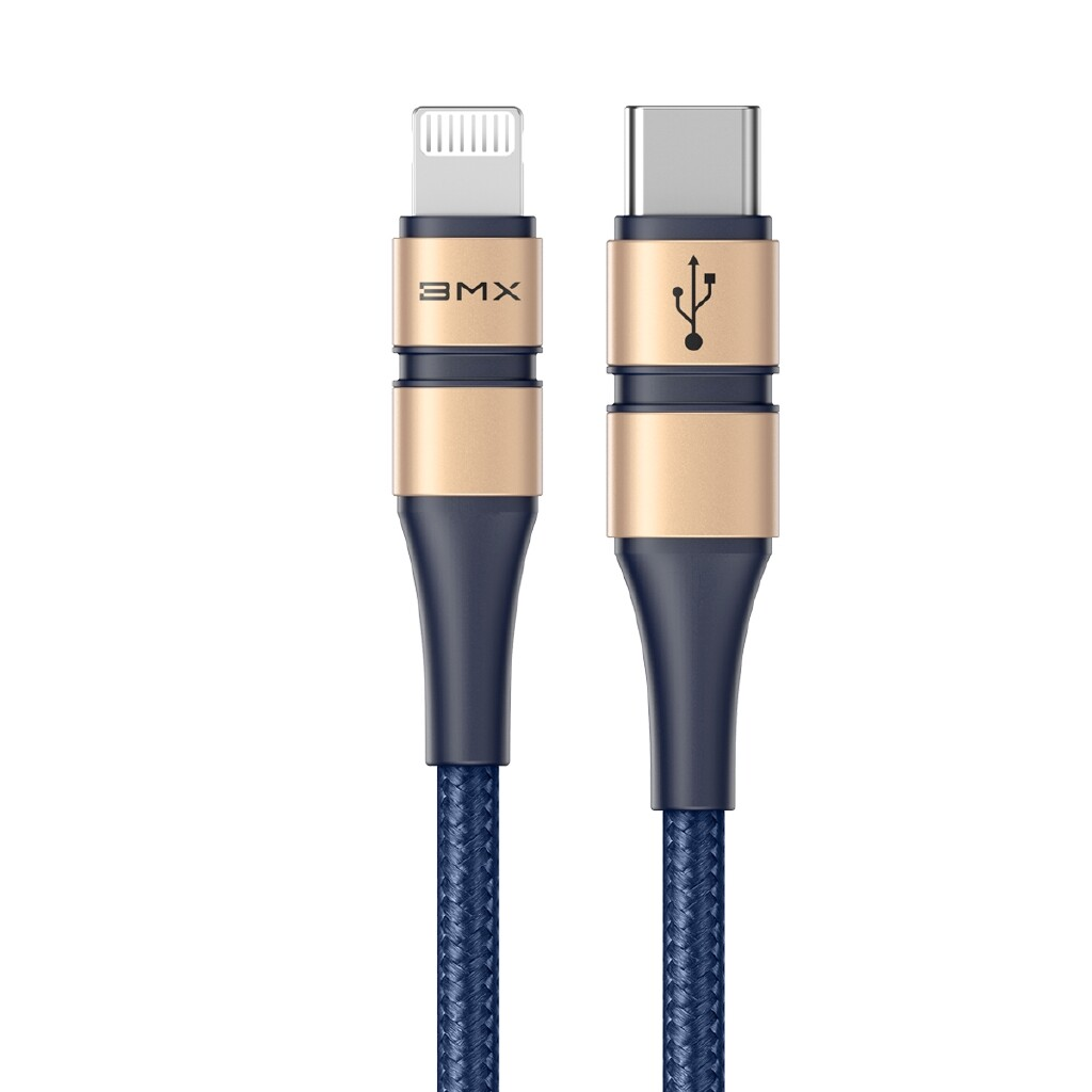 Mobile Cable & Chargers - Baseus BMX Type-C to Lightning for Fast Charging Phone PD 18W DoubLe-deck MFi certified Data Cable - 1.2M -GREY / 1.8M -GOLD