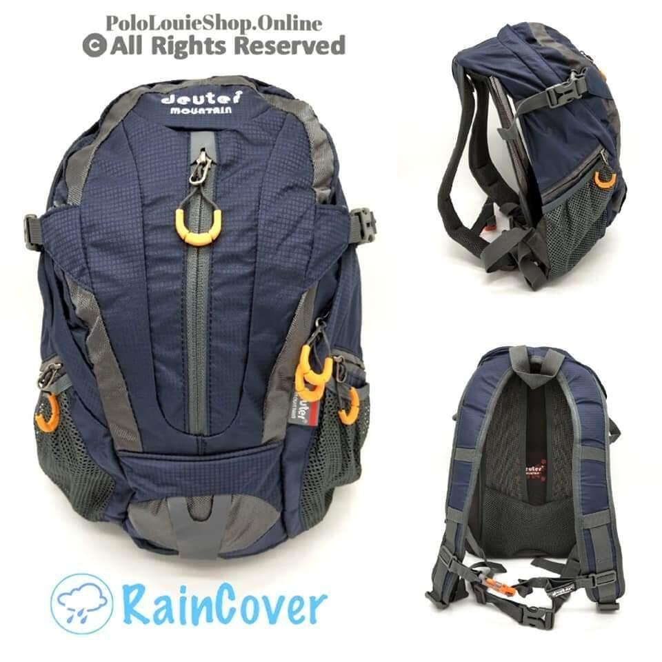 READY STOCK Deuter Mountain Backpack 30L Rain Cover Travel Sport Unisex0046-Light blue
