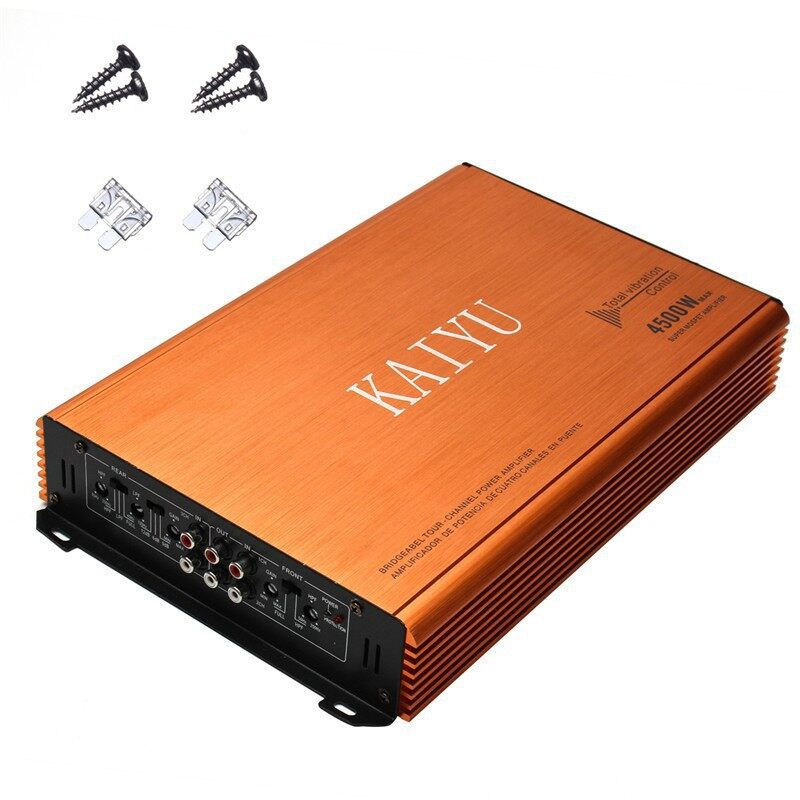 Vehicle Speakers & Subwoofers - KY808 4500W 4 Channel Amplifier Car Audio Power DJ HiFi Stereo Aluminum - Car Electronics